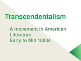 Transcendentalism: Introduction to Emerson and Thoreau, 9 Principles
