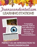 Transcendentalism Learning Stations -- Perfect as an intro to Transcendentalism