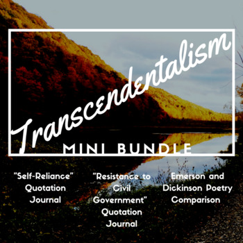 Transcendentalism Mini Bundle