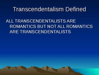 Transcendentalism Notes