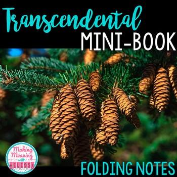 Transcendentalism Notes - Mini-book, foldable, INB - High School