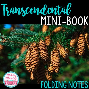 Transcendentalism Notes - Mini-book, foldable, INB - High School
