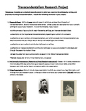 Transcendentalism Research Project