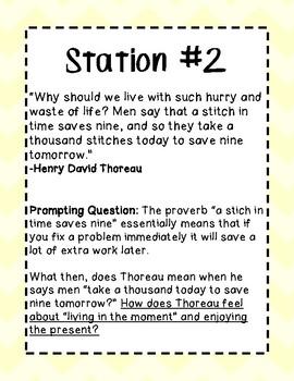 Transcendentalism Station Activity