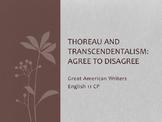 Transcendentalism & Thoreau Agree or Disagree Activity