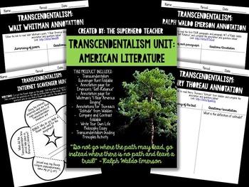 Transcendentalism Unit: Whitman, Emerson, & Thoreau