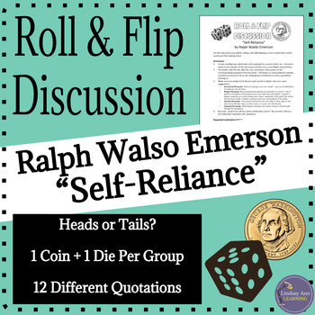 """Transcendentalism and """"Self-Reliance"""" by Ralph Waldo Emerson Discussion Activity"""