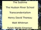 Transcendentalism and The Hudson River School