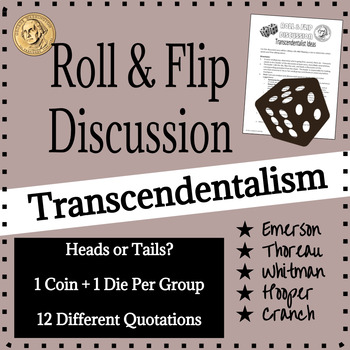 American Transcendentalism Discussion Activity, Thoreau, Emerson, Whitman