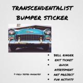 Transcendentalist bumper sticker activity
