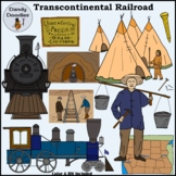 Transcontinental Railroad Clip Art by Dandy Doodles