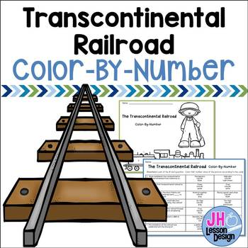 Transcontinental Railroad Color-By-Number