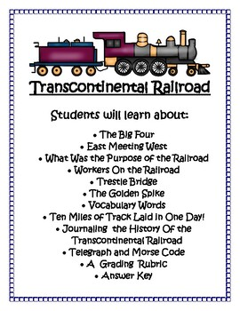 Transcontinental Railroad Lapbook
