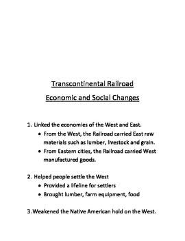 Transcontinental Railroad Notes