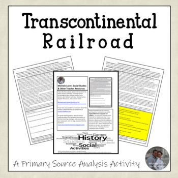 Transcontinental Railroad Promontory Point American Document Analysis Activity