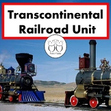 Transcontinental Railroad Unit : Close Reading Game Activities Art Project