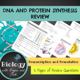 Protein Synthesis - DNA, Transcription and Translation Rev