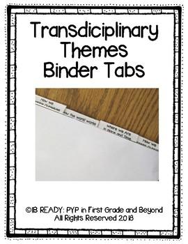 Transdiciplinary Themes Binder Tabs