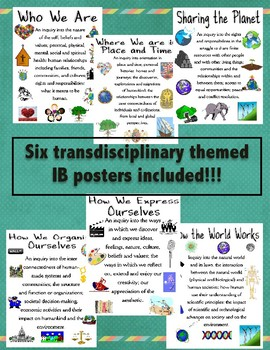 Transdiciplinary Themes posters