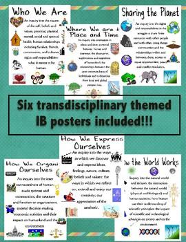 Transdiciplinary Themes posters