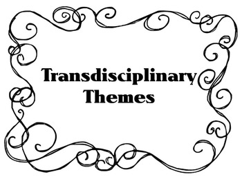 Transdisciplinary Theme- Black and White Swirl Border IB PYP