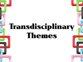 Transdisciplinary Theme- Colored Squares Border IB PYP