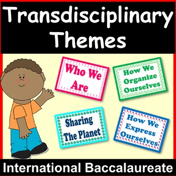 Transdisciplinary Themes International Baccalaureate {Posters Display}