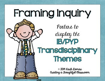 Transdisciplinary Themes Poster Set, IB/PYP Programme
