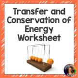Transfer / Conservation of Energy Worksheet