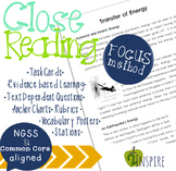 Transfer of EnergyPhysical Science Close Reading Evidence & Text-Dependent Pack