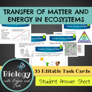 Photosynthesis and Respiration: Transfer of Matter and Ene