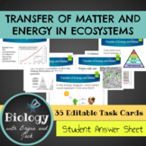 Photosynthesis and Respiration: Transfer of Matter and Energy Task Cards