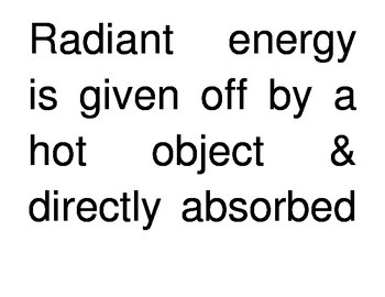 Transfer of Thermal Energy Through Radiation