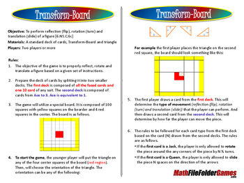 Transform-Board - Reflection, Rotation, and Translation Game