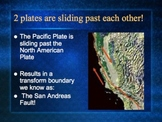 PowerPoint:  Transform Boundaries and the San Andreas Fault