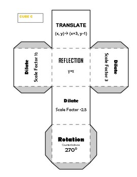 Transformation Cube Activity with Dilation