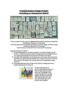 Transformation Design Project with an Assessment Rubric