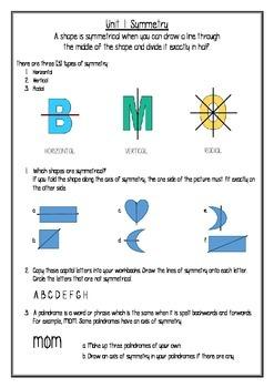 Transformation Geometry Worksheet Pack