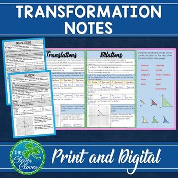 Transformation Interactive Notes
