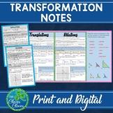 Transformation Notes - Print and Digital - Google Slides
