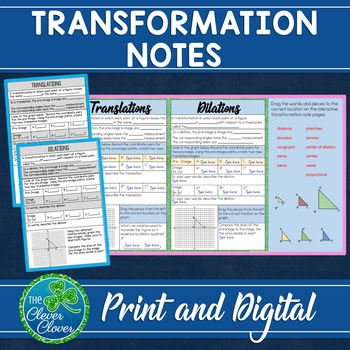 Transformation Interactive Notes