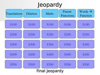 Transformation Jeopardy
