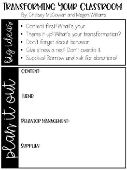 Transformation Planning Page