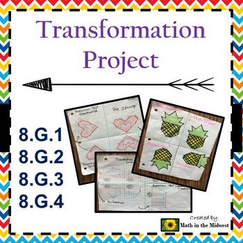 Transformation Project - Translations,Rotations,Reflections 8.G.1, 8.G.2, 8.G.3