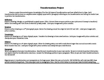 Transformation Project & Rubric
