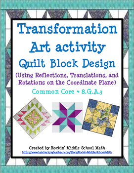 Transformation Art -  Quilt Activity/Class project (CCSS 8.G.A.2 and 8.G.A.3)