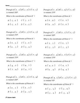 Transformation (Rotation Quiz)