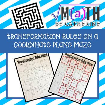 Transformation Rules on a Coordinate Plane Maze