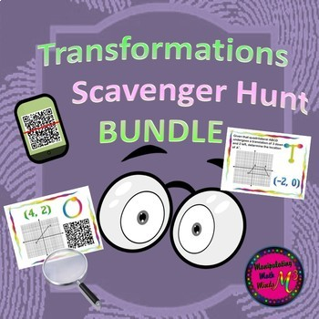 Transformation Scavenger Hunt BUNDLE (QR and Non QR) Great Unit or STAAR Rev