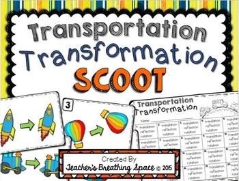 Transformations Scoot -- Translation, Reflection, Rotation